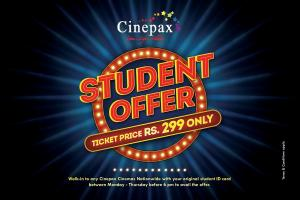 Cinepax Cinemas Revealed Special Discount Offer for Students